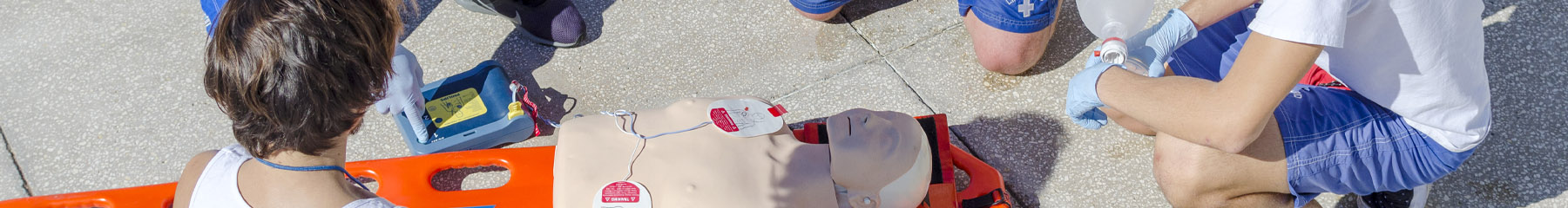Lifeguard safety training with dummy