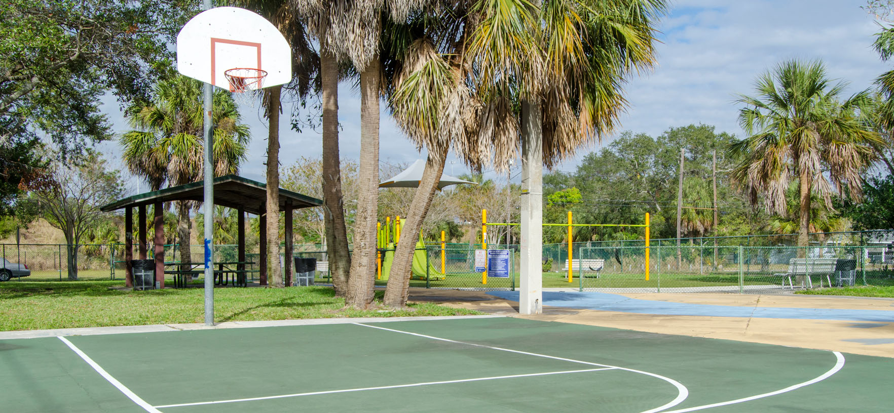 Playlot 1 outdoor basketball court