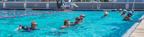 A water aerobics class at North Shore Aquatic Complex.